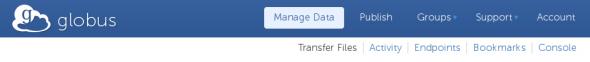 Choose Transfer Files from navigation menu