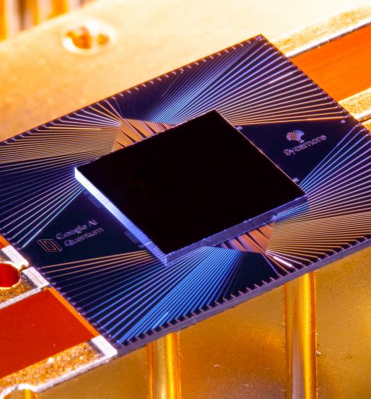 The Sycamore quantum processor. Photograph by Erik Lucero/Google
